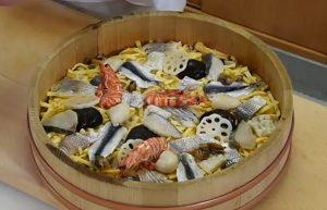 備前ばら寿司のレシピと岡山市内の有名店がケンミンショーで紹介