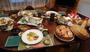 お宿ファームログみうらのお食事夕食メニューは?人生の楽園