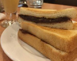 愛知県・昭和ロマン喫茶ボンボンの小倉トースト「アントースト」ZIP!で紹介