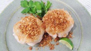 えびと里芋の揚げないコロッケ(電子レンジ調理・フライパン)みないきぬこレシピ