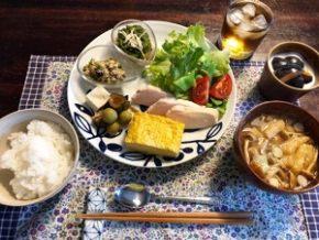 黒姫高原ふふはり亭 ある日の朝食メニュー
