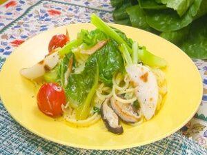 箱根西麓のうみんず ロメインレタスを使用したペペロンチーノの作り方 青空レストラン