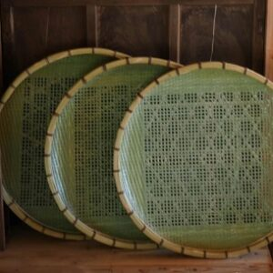 人生の楽園 竹細工工房 伍竹庵の制作する笊籠を使う そばの里まぎの を紹介 栃木県茂木町